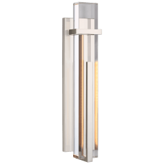 Malik Large Sconce in Polished Nickel with Crystal
