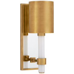 Maribelle Single Sconce in Hand-Rubbed Antique Brass with Hand-Rubbed Antique Brass Shade