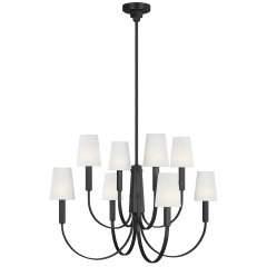 Logan Large Two-Tier Chandelier Aged Iron