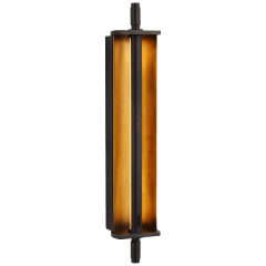 Cilindro Large Reflector Sconce in Bronze and Hand-Rubbed Antique Brass