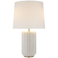 Minx Large Table Lamp in Ivory with Linen Shade