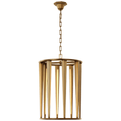 Galahad Medium Lantern in Hand-Rubbed Antique Brass