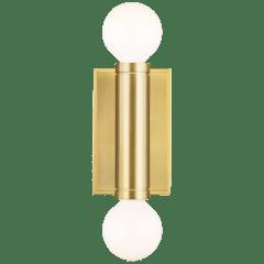 Beckham Modern Double Sconce Burnished Brass