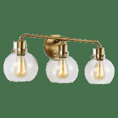 Clara 3 - Light Vanity Burnished Brass