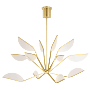 "Belterra 48 Chandelier 48"" Diameter Natural Brass 3000K 90 CRI Integrated LED 90 cri 3000k 120v"