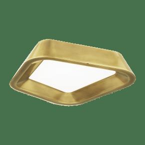 Rhonan Flush Mount Plated Brass 3000K 90 CRI LED 90 CRI 3000K 120v