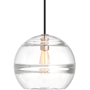 Sedona Large Pendant Clear Satin Nickel