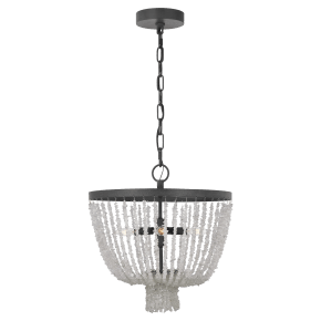 Leon Small Chandelier Dark Weathered Zinc