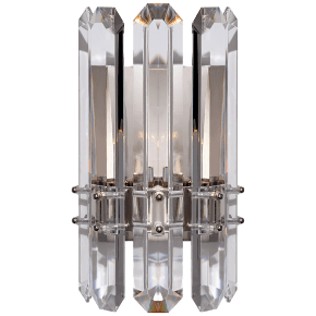 Bonnington Wall Sconce in Polished Nickel with Crystal