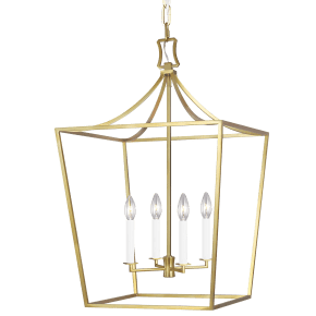 Southold Medium Lantern Burnished Brass