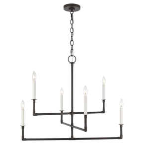 Bayview Medium Chandelier Aged Iron