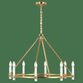 Marston Large Chandelier Burnished Brass