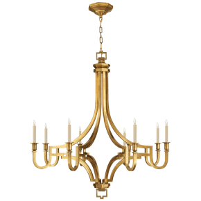 Mykonos Large Chandelier in Antique-Burnished Brass