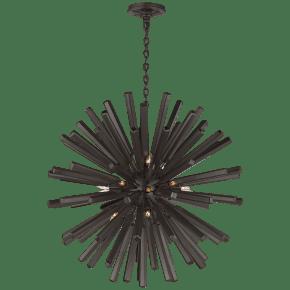 Lawrence Medium Sputnik Chandelier in Aged Iron