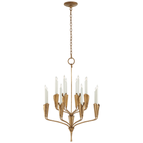 Aiden Small Chandelier in Gilded Iron