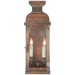 Suffork Medium 3/4 Lantern in Natural Copper