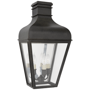 Fremont Small 3/4 Wall Lantern in French Rust with Clear Glass