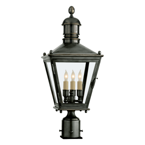 Sussex Small Post Lantern in Bronze
