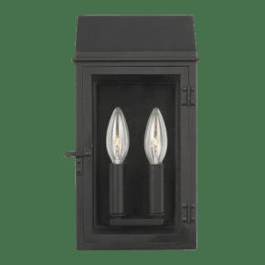 Hingham Small Outdoor Wall Lantern Textured Black