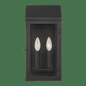Hingham Medium Outdoor Wall Lantern Textured Black