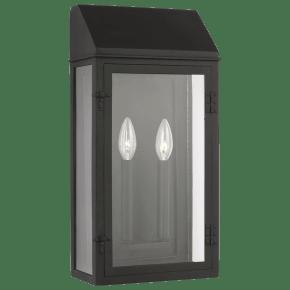 Hingham Large Outdoor Wall Lantern Textured Black