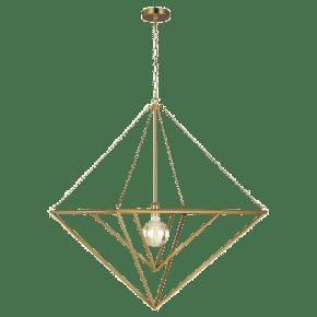 Carat Large Pendant Burnished Brass