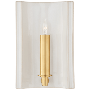 Leeds Small Rectangle Sconce in Ivory