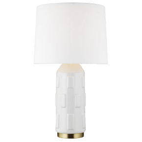 Morada Medium Table Lamp Arctic White Bulbs Inc