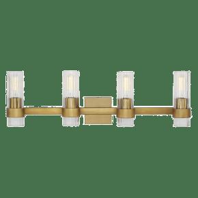 Geneva 4 - Light Vanity Burnished Brass