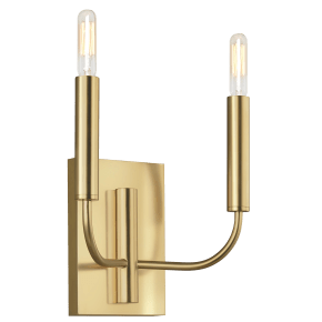 Brianna Double Sconce Burnished Brass