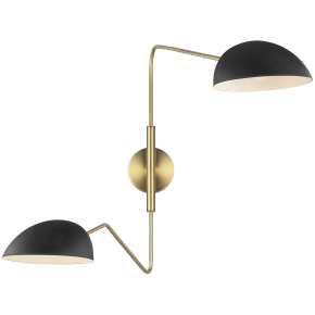 Jane Double Task Sconce Midnight Black