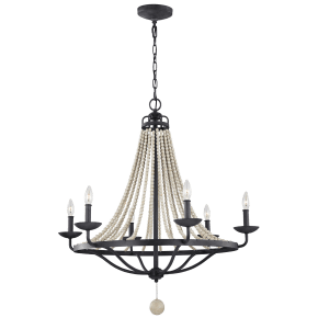 Nori Large Chandelier Dark Weathered Zinc / Driftwood Grey
