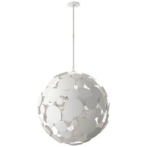 Luna Large Chandelier in Matte White