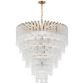 Lorelei X-Large Waterfall Chandelier in Gild with Clear Glass