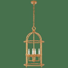 Illana Medium Lantern in Antique Gold Leaf