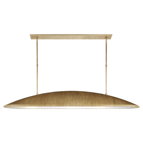Utopia Large Linear Pendant in Gild with Frosted Acrylic