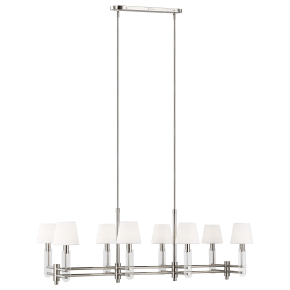 Jake Linear Chandelier Polished Nickel