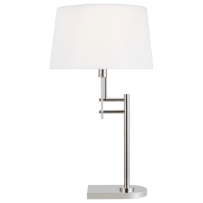 Jake Table Lamp Polished Nickel Bulbs Inc