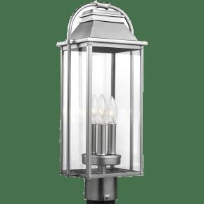 Wellsworth Post Lantern Painted Brushed Steel