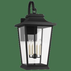 Warren Extra Large Lantern Textured Black