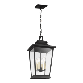 Warren Hanging Lantern Textured Black