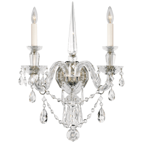 Daniela Medium Double Sconce in Crystal