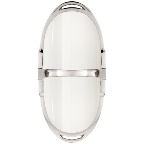 Westbury Double Sconce in Polished Nickel with White Glass