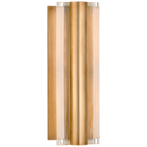 Daley Small Linear Sconce in Natural Brass with Crystal