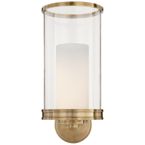 Modern Hurricane Sconce in Natural Brass