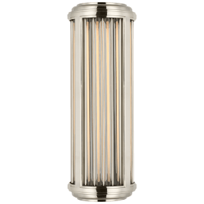 Perren Small Wall Sconce in Polished Nickel and Glass Rods