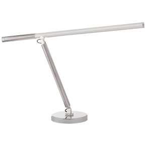 Barrett Knurled Boom Arm Desk Light in Polished Nickel