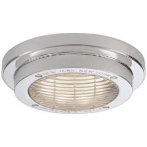 """Grant 6.25"""" Solitaire Flush Mount in Polished Nickel"""
