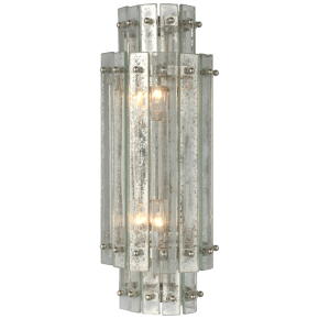 Cadence Small Tiered Sconce in Polished Nickel with Antique Mirror