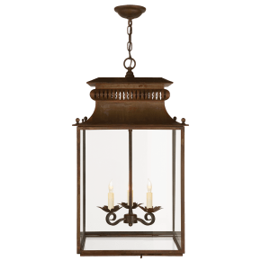 Honore Lantern in Antique Zinc